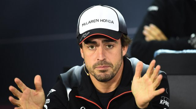 Fernando Alonso (ESP) McLaren in the Press Conference at Formula One World Championship, Rd2, Bahrain Grand Prix Preparations, Bahrain International Circuit, Sakhir, Bahrain, Thursday 31 March 2016. &copy&#x3b; Sutton Motorsport Images