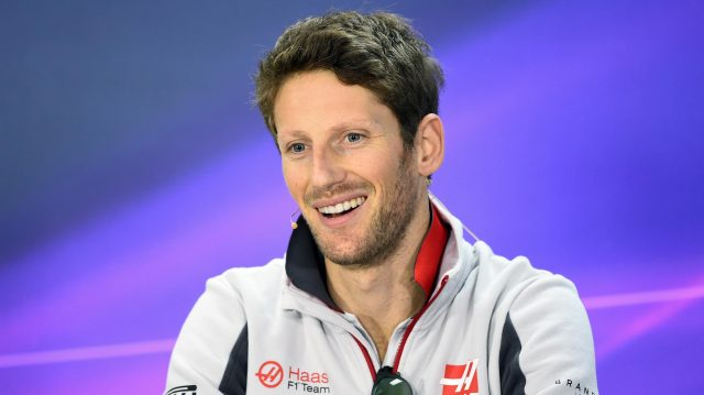 Romain Grosjean (FRA) Haas F1 in the press conference at Formula One World Championship, Rd2, Bahrain Grand Prix Preparations, Bahrain International Circuit, Sakhir, Bahrain, Thursday 31 March 2016. &copy&#x3b; Sutton Motorsport Images