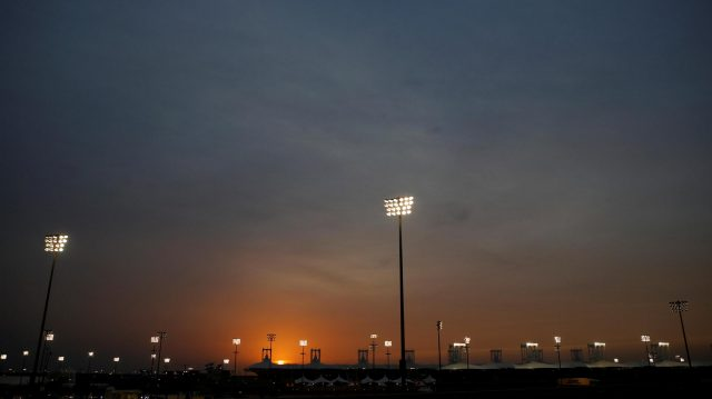Atmosphere and sunset at Formula One World Championship, Rd2, Bahrain Grand Prix Practice, Bahrain International Circuit, Sakhir, Bahrain, Friday 1 April 2016. &copy&#x3b; Sutton Motorsport Images