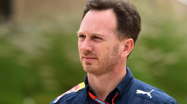 Christian Horner (GBR) Red Bull Racing Team Principal at Formula One World Championship, Rd2, Bahrain Grand Prix Practice, Bahrain International Circuit, Sakhir, Bahrain, Friday 1 April 2016. &copy&#x3b; Sutton Motorsport Images