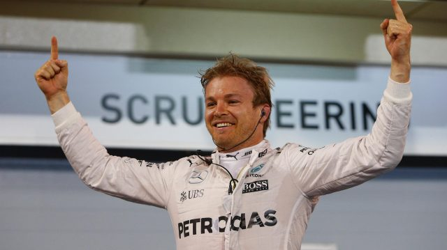 Race winner Nico Rosberg (GER) Mercedes AMG F1 celebrates in parc ferme at Formula One World Championship, Rd2, Bahrain Grand Prix Race, Bahrain International Circuit, Sakhir, Bahrain, Sunday 3 April 2016. &copy&#x3b; Sutton Motorsport Images