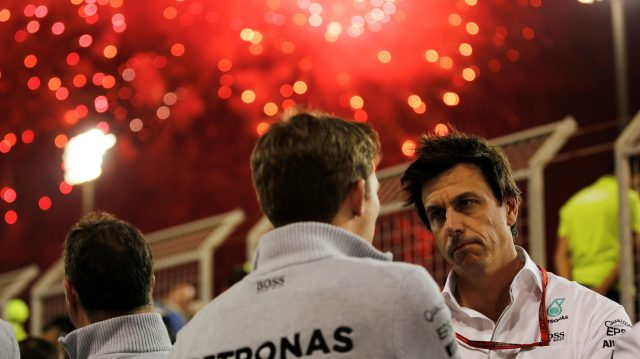 Toto Wolff (AUT) Mercedes AMG F1 Director of Motorsport at Formula One World Championship, Rd2, Bahrain Grand Prix Race, Bahrain International Circuit, Sakhir, Bahrain, Sunday 3 April 2016. &copy&#x3b; Sutton Motorsport Images