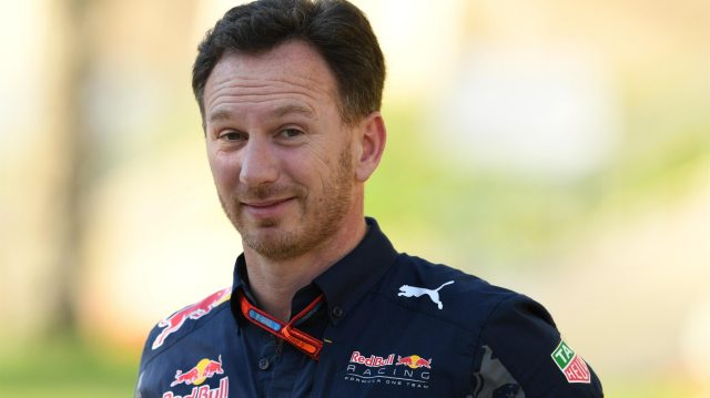 Christian Horner (GBR) Red Bull Racing Team Principal at Formula One World Championship, Rd2, Bahrain Grand Prix Race, Bahrain International Circuit, Sakhir, Bahrain, Sunday 3 April 2016. &copy&#x3b; Sutton Motorsport Images
