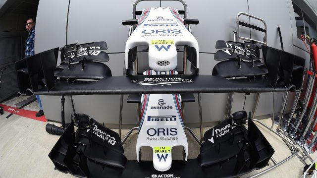 Williams FW38 nose and front wing at Formula One World Championship, Rd4, Russian Grand Prix, Qualifying, Sochi Autodrom, Sochi, Krasnodar Krai, Russia, Saturday 30 April 2016. &copy&#x3b; Sutton Motorsport Images