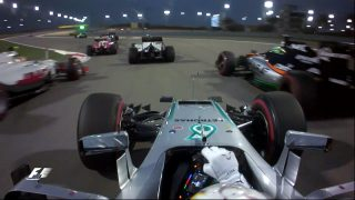 Ride onboard with Hamilton on an eventful opening lap in Bahrain