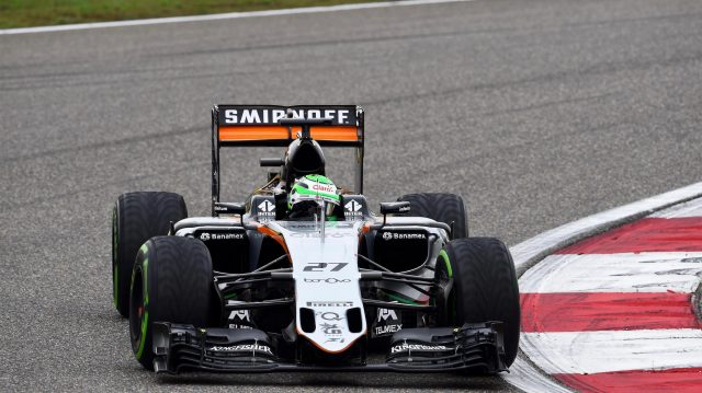 Nico Hulkenberg (GER) Force India VJM09 at Formula One World Championship, Rd3, Chinese Grand Prix, Qualifying, Shanghai, China, Saturday 16 April 2016. &copy&#x3b; Sutton Motorsport Images
