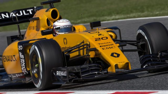Kevin Magnussen (DEN) Renault Sport F1 Team RS16 at Formula One World Championship, Rd5, Spanish Grand Prix, Practice, Barcelona, Spain, Friday 13 May 2016. &copy&#x3b; Sutton Images