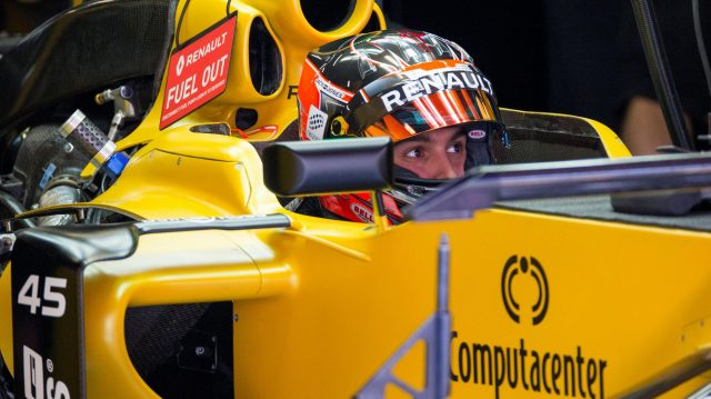 Esteban Ocon (FRA) Renault Sport F1 Team RS16 at Formula One World Championship, Rd5, Spanish Grand Prix, Preparations, Barcelona, Spain, Thursday 12 May 2016. &copy&#x3b; Sutton Images