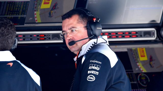 Eric Boullier (FRA) McLaren Racing Director at Formula One World Championship, Rd5, Spanish Grand Prix, Practice, Barcelona, Spain, Friday 13 May 2016. &copy&#x3b; Sutton Images