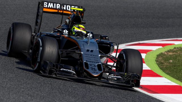 Sergio Perez (MEX) Force India VJM09 at Formula One World Championship, Rd5, Spanish Grand Prix, Practice, Barcelona, Spain, Friday 13 May 2016. &copy&#x3b; Sutton Images