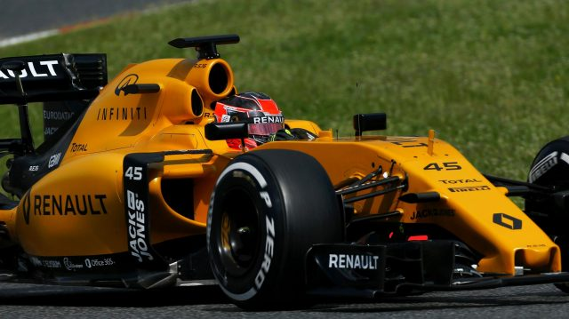 Esteban Ocon (FRA) Renault Sport F1 Team RS16 at Formula One Testing, Day One, Barcelona, Spain, 17 May 2016. &copy&#x3b; Sutton Images