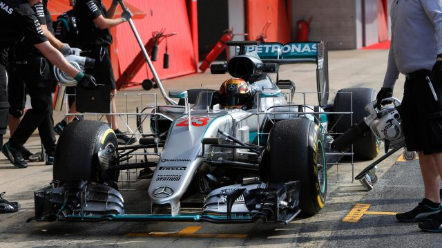 Pascal Wehrlein (GER) Mercedes-Benz F1 W07 Hybrid  at Formula One Testing, Day Two, Barcelona, Spain, 18 May 2016. &copy&#x3b; Sutton Images