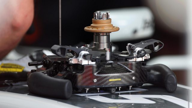 Haas VF-16 steering wheel detail at Formula One Testing, Day Two, Barcelona, Spain, 18 May 2016. &copy&#x3b; Sutton Images