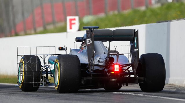 Pascal Wehrlein (GER) Mercedes-Benz F1 W07 Hybrid with aero sensors at Formula One Testing, Day Two, Barcelona, Spain, 18 May 2016. &copy&#x3b; Sutton Images