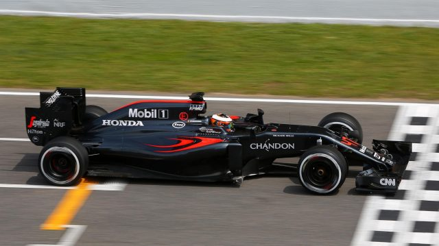 Stoffel Vandoorne (BEL) McLaren MP4-31 at Formula One Testing, Day Two, Barcelona, Spain, 18 May 2016. &copy&#x3b; Sutton Images