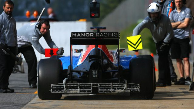 Jordan King (GBR) Manor Racing MRT05 with aero sensor at Formula One Testing, Day Two, Barcelona, Spain, 18 May 2016. &copy&#x3b; Sutton Images