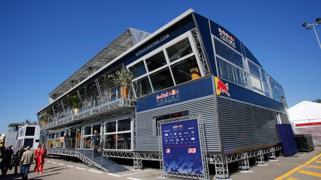 Red Bull Energy Station at Formula One World Championship, Rd5, Spanish Grand Prix, Preparations, Barcelona, Spain, Thursday 12 May 2016. &copy&#x3b; Sutton Images