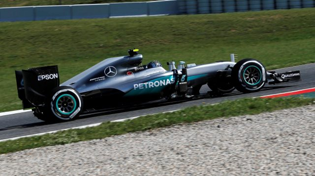 Nico Rosberg (GER) Mercedes-Benz F1 W07 Hybrid at Formula One World Championship, Rd5, Spanish Grand Prix, Practice, Barcelona, Spain, Friday 13 May 2016. &copy&#x3b; Sutton Images