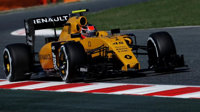 Esteban Ocon (FRA) Renault Sport F1 Team RS16 at Formula One World Championship, Rd5, Spanish Grand Prix, Practice, Barcelona, Spain, Friday 13 May 2016. &copy&#x3b; Sutton Images