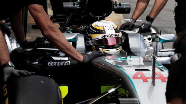 Lewis Hamilton (GBR) Mercedes-Benz F1 W07 Hybrid at Formula One World Championship, Rd5, Spanish Grand Prix, Practice, Barcelona, Spain, Friday 13 May 2016. &copy&#x3b; Sutton Images