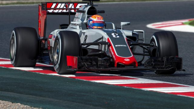 Romain Grosjean (FRA) Haas VF-16 at Formula One World Championship, Rd5, Spanish Grand Prix, Practice, Barcelona, Spain, Friday 13 May 2016. &copy&#x3b; Sutton Images