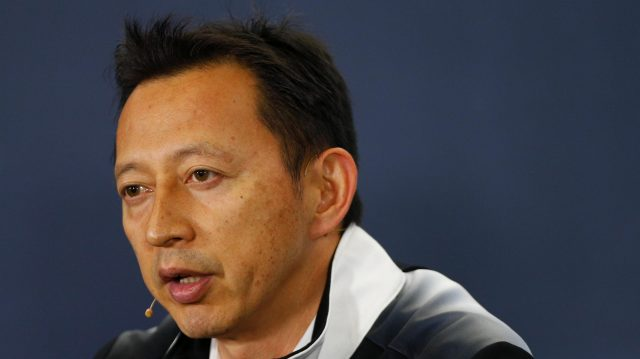 Yusuke Hasegawa (JPN) Head of Honda Motorsport in the Press Conference at Formula One World Championship, Rd5, Spanish Grand Prix, Practice, Barcelona, Spain, Friday 13 May 2016. &copy&#x3b; Sutton Images
