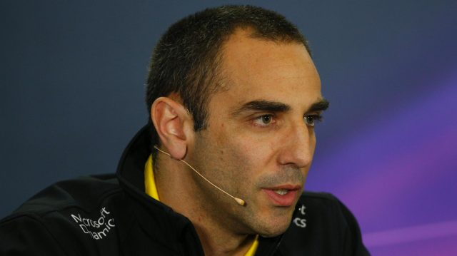 Cyril Abiteboul (FRA) Renault Sport F1 Managing Director in the Press Conference at Formula One World Championship, Rd5, Spanish Grand Prix, Practice, Barcelona, Spain, Friday 13 May 2016. &copy&#x3b; Sutton Images