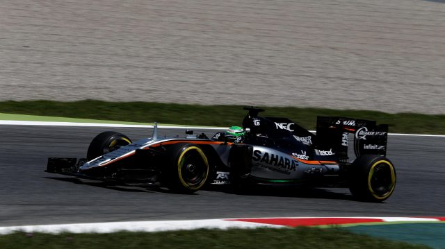 Nico Hulkenberg (GER) Force India VJM09 at Formula One World Championship, Rd5, Spanish Grand Prix, Qualifying, Barcelona, Spain, Saturday 14 May 2016. &copy&#x3b; Sutton Motorsport Images