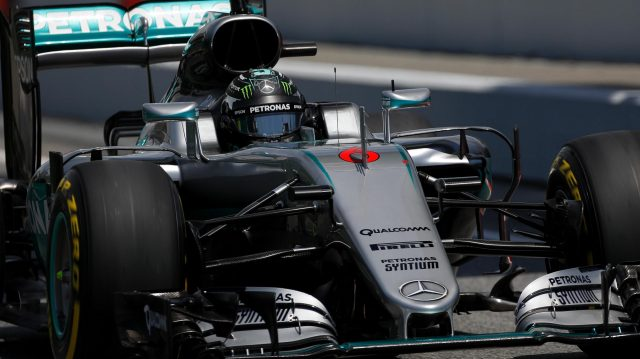 Nico Rosberg (GER) Mercedes-Benz F1 W07 Hybrid at Formula One World Championship, Rd5, Spanish Grand Prix, Qualifying, Barcelona, Spain, Saturday 14 May 2016. &copy&#x3b; Sutton Images