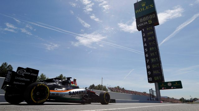 Nico Hulkenberg (GER) Force India VJM09 at Formula One World Championship, Rd5, Spanish Grand Prix, Qualifying, Barcelona, Spain, Saturday 14 May 2016. &copy&#x3b; Sutton Images