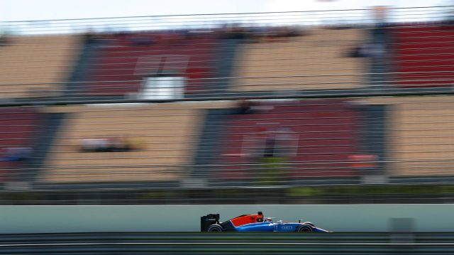 Pascal Wehrlein (GER) Manor Racing MRT05 at Formula One World Championship, Rd5, Spanish Grand Prix, Qualifying, Barcelona, Spain, Saturday 14 May 2016. &copy&#x3b; Sutton Images