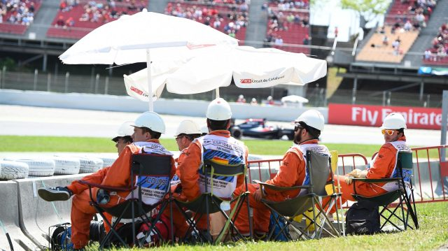 Marshals at Formula One World Championship, Rd5, Spanish Grand Prix, Race, Barcelona, Spain, Sunday 15 May 2016. &copy&#x3b; Sutton Motorsport Images