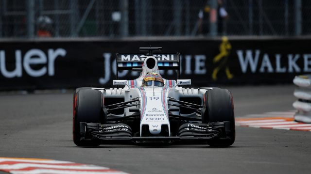 Felipe Massa (BRA) Williams FW38 at Formula One World Championship, Rd6, Monaco Grand Prix, Race, Monte-Carlo, Monaco, Sunday 29 May 2016. &copy&#x3b; Sutton Images