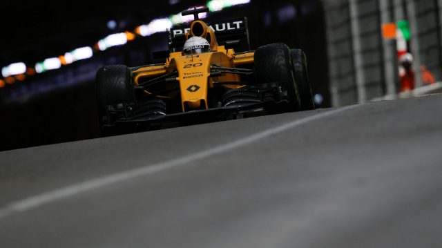 Kevin Magnussen (DEN) Renault Sport F1 Team RS16 at Formula One World Championship, Rd6, Monaco Grand Prix, Race, Monte-Carlo, Monaco, Sunday 29 May 2016. &copy&#x3b; Sutton Images