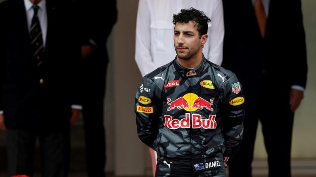 Daniel Ricciardo (AUS) Red Bull Racing on the podium at Formula One World Championship, Rd6, Monaco Grand Prix, Race, Monte-Carlo, Monaco, Sunday 29 May 2016. &copy&#x3b; Sutton Images