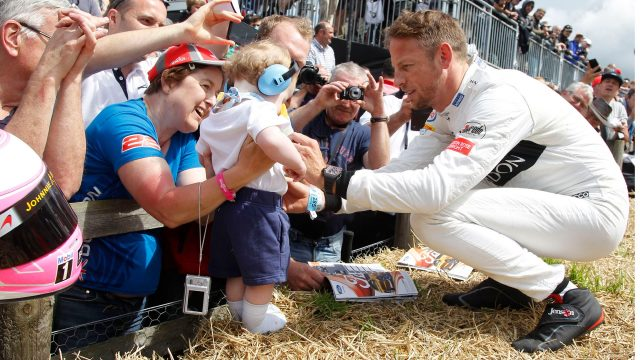 Jenson Button (GBR) McLaren meets the fans at Goodwood Festival of Speed, Goodwood, England, 24-26 June 2016. &copy&#x3b; Sutton Images