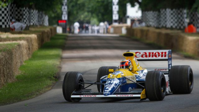 Karun Chandhok (IND) Williams FW13 at Goodwood Festival of Speed, Goodwood, England, 24-26 June 2016. &copy&#x3b; Sutton Images