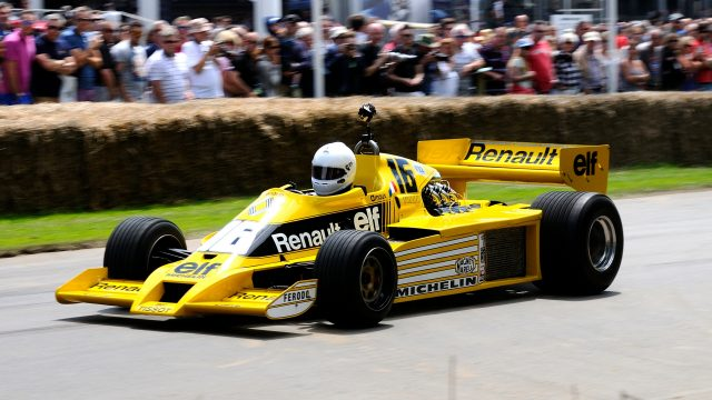 Rene Arnoux (FRA) Renault RS01 at Goodwood Festival of Speed, Goodwood, England, 24-26 June 2016. &copy&#x3b; Sutton Images