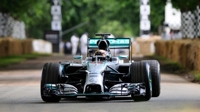 Pascal Wehrlein (GER) Mercedes-Benz F1 W06 Hybrid at Goodwood Festival of Speed, Goodwood, England, 24-26 June 2016. &copy&#x3b; Sutton Images