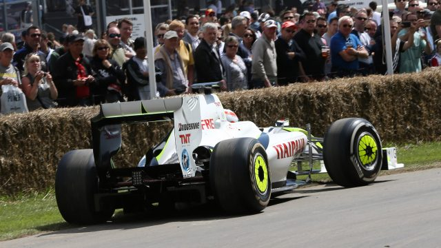 Martin Brundle (GBR) Brawn BGP001 2009 at Goodwood Festival of Speed, Goodwood, England, 24-26 June 2016. &copy&#x3b; Sutton Images