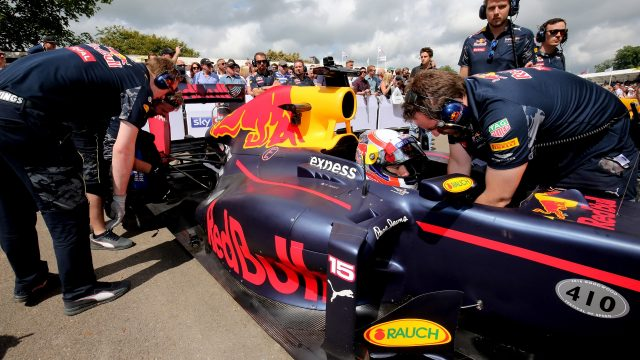 Pierre Gasly (FRA) Red Bull Racing RB8 at Goodwood Festival of Speed, Goodwood, England, 24-26 June 2016. &copy&#x3b; Sutton Images
