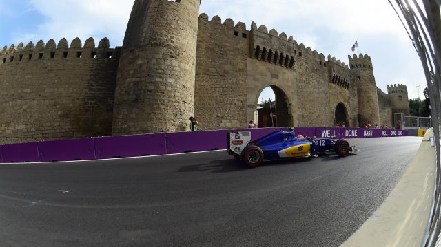 Felipe Nasr (BRA) Sauber C35 at Formula One World Championship, Rd8, European Grand Prix, Qualifying, Baku City Circuit, Baku, Azerbaijan, Saturday 18 June 2016. &copy&#x3b; Sutton Images