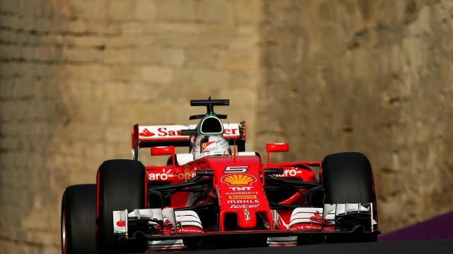 Sebastian Vettel (GER) Ferrari SF16-H at Formula One World Championship, Rd8, European Grand Prix, Qualifying, Baku City Circuit, Baku, Azerbaijan, Saturday 18 June 2016. &copy&#x3b; Sutton Images