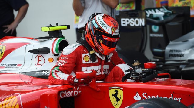 Kimi Raikkonen (FIN) Ferrari SF16-H in parc ferme at Formula One World Championship, Rd8, European Grand Prix, Qualifying, Baku City Circuit, Baku, Azerbaijan, Saturday 18 June 2016. &copy&#x3b; Sutton Images