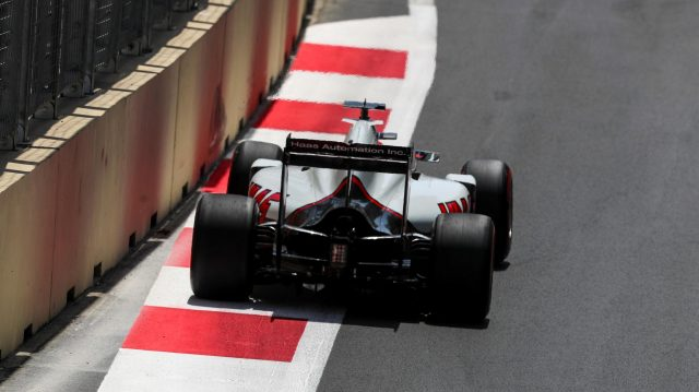 Romain Grosjean (FRA) Haas VF-16 at Formula One World Championship, Rd8, European Grand Prix, Qualifying, Baku City Circuit, Baku, Azerbaijan, Saturday 18 June 2016. &copy&#x3b; Sutton Images