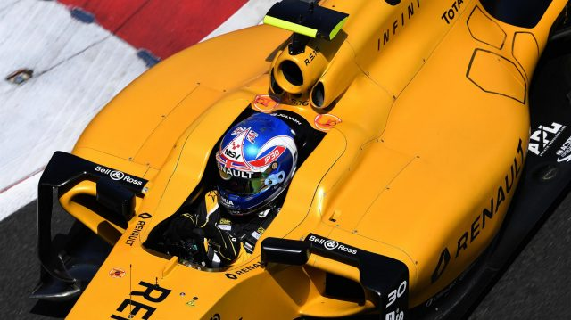 Jolyon Palmer (GBR) Renault Sport F1 Team RS16 at Formula One World Championship, Rd8, European Grand Prix, Qualifying, Baku City Circuit, Baku, Azerbaijan, Saturday 18 June 2016. &copy&#x3b; Sutton Images