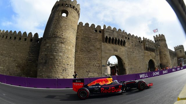 Max Verstappen (NED) Red Bull Racing RB12 at Formula One World Championship, Rd8, European Grand Prix, Qualifying, Baku City Circuit, Baku, Azerbaijan, Saturday 18 June 2016. &copy&#x3b; Sutton Images