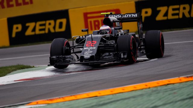 Jenson Button (GBR) McLaren MP4-31 at Formula One World Championship, Rd7, Canadian Grand Prix, Qualifying, Montreal, Canada, Saturday 11 June 2016. &copy&#x3b; Sutton Images