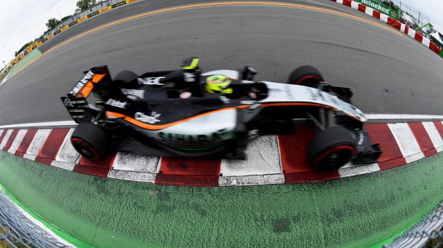 Sergio Perez (MEX) Force India VJM09 at Formula One World Championship, Rd7, Canadian Grand Prix, Qualifying, Montreal, Canada, Saturday 11 June 2016. &copy&#x3b; Sutton Images
