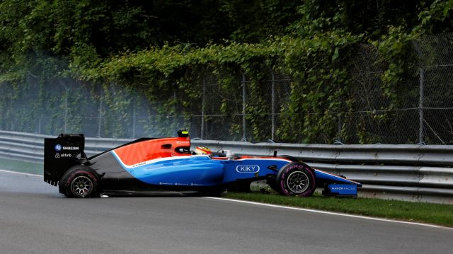 Rio Haryanto (IDN) Manor Racing MRT05 crashes in Q1 at Formula One World Championship, Rd7, Canadian Grand Prix, Qualifying, Montreal, Canada, Saturday 11 June 2016. &copy&#x3b; Sutton Images